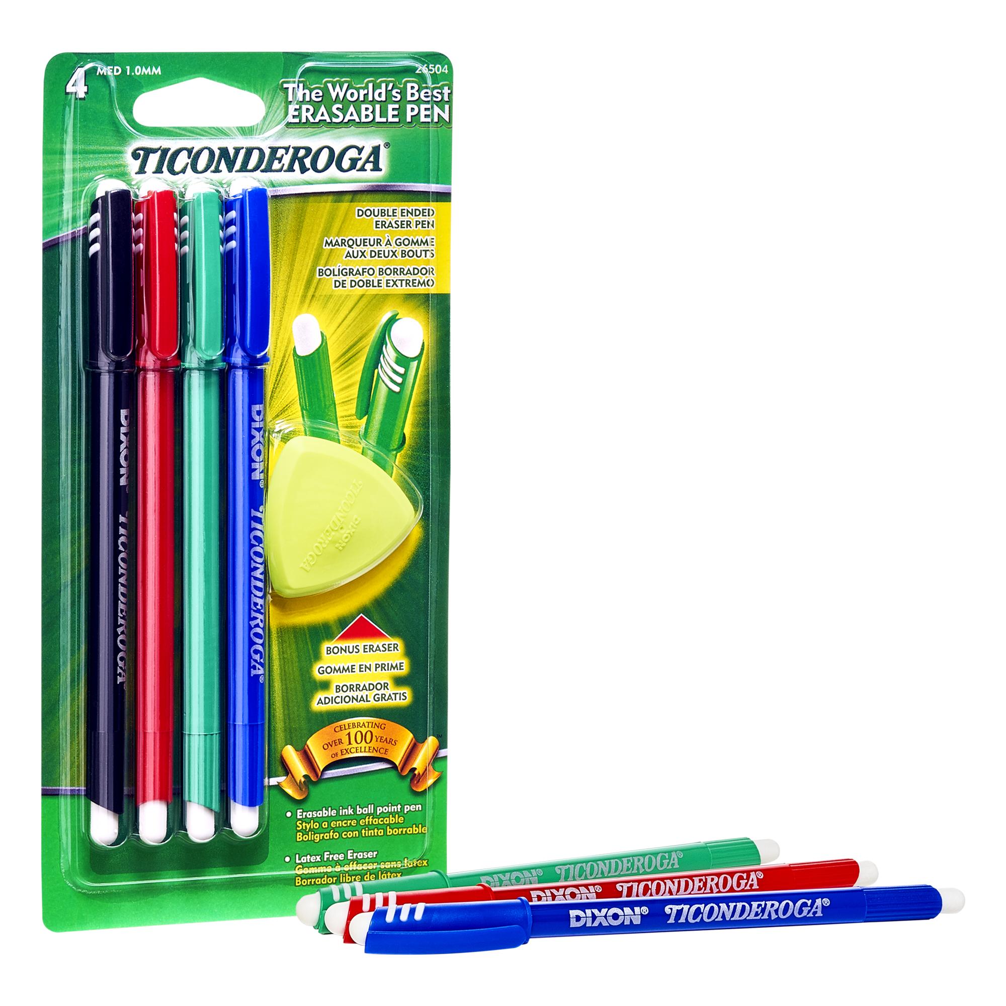 Ticonderoga Multi Color 38931 Multi-Pack Erasers