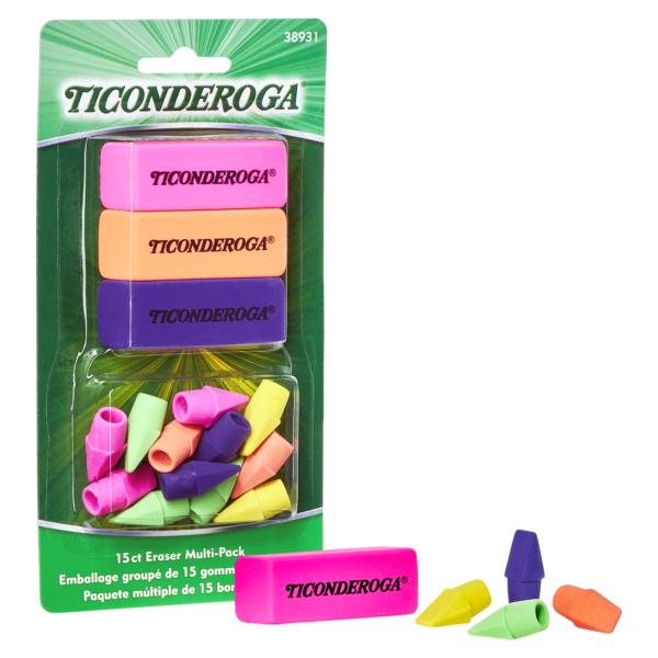 Ticonderoga Neon Erasers
